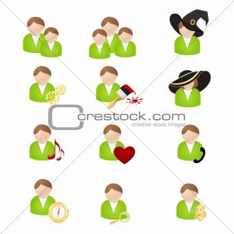 Set of icons-avatars