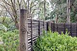 Wood and Bamboo Fencing at Japanese Garden