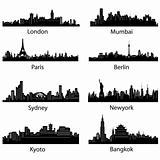 Set of Famous City scape