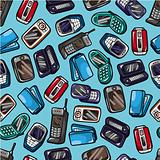 seamless mobile phone pattern