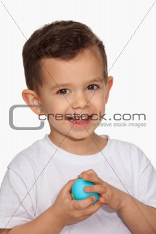 Boy Holding Easter Egg