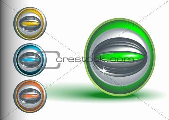 3d buttons, vector