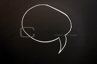 chalkboard and speech bubble