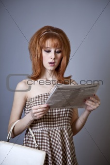 Portrait of red-haired girl.