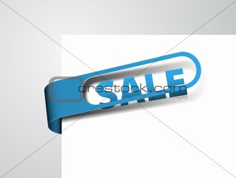 Blue paper tag