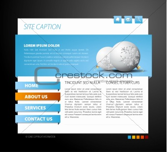 Christmas web page template