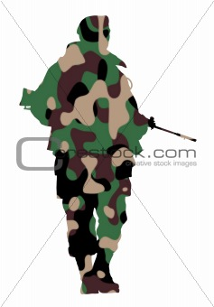 Camouflage soldier