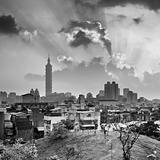Sunset Taipei cityscape