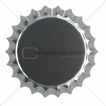 metallic bottle cap 3d illustration
