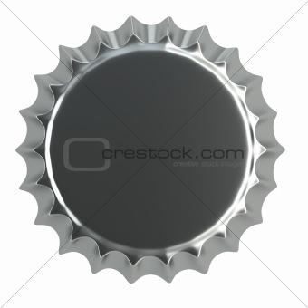 metallic bottle cap 3d illustration