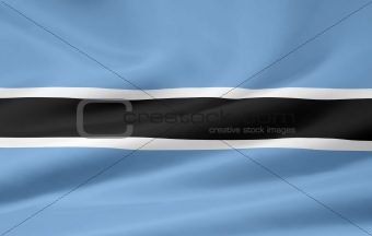 Flag of the Botswana