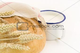 Fresh bread and milk