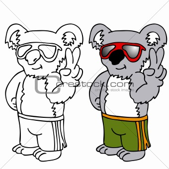 Koala Wearing Sunglasses