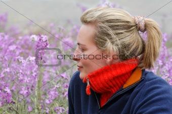 Beautiful young woman enjoying the countryside
