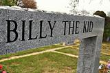 Bill the kid grave marker perspective