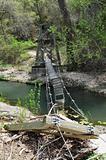 Bridge out over river