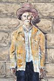 Hico Texas Brushy Bill painting
