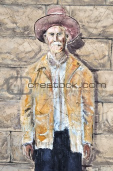 Hico Texas Brushy Bill painting