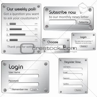 Metallic Web Form Template
