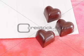 Three Milk Chocolate Hearts