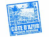 Cote D&#39;Azur stamp