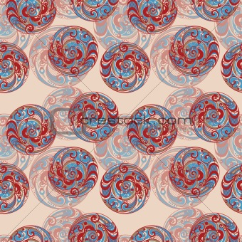 abstract bubble seamless background