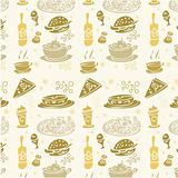 Food pattern fabric seamless