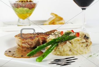Asparagus with Rice and Meat