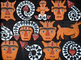 Aboriginal Painted Wood Carvings