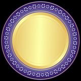 Violet-golden decorative plate