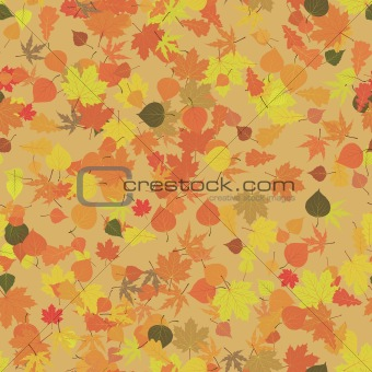 Autumn leaves seamless pattern. EPS 8