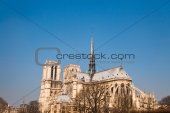 beautiful view Notre Dame