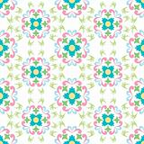 seamless flowers pattern isolated on white background