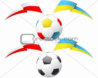 Flags over Soccer Ball