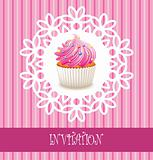 vector retro cupcake card