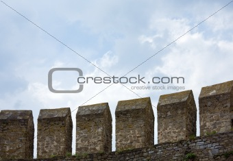view of Khotyn Fortress (Chernivtsi Oblast, Ukraine)