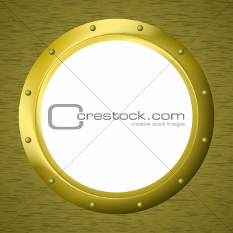 Window porthole in a wall