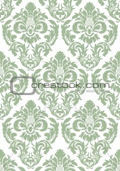 Damask floral wallpaper