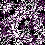 Dark repeating floral pattern
