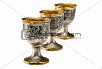 Three ancient wine cup