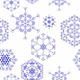 seamless pattern, snowflakes
