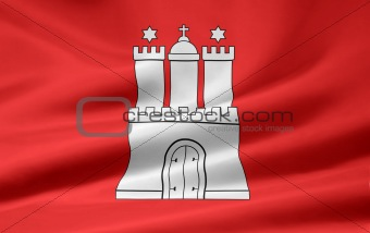 Flag of Hamburg - Germany