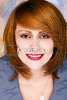 Perfect woman  on colored background