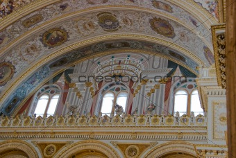 Balcony in the Main Hall of Dolma Bahche Palace