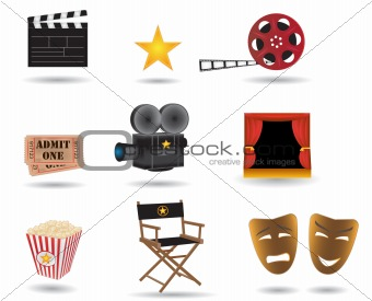 movie vector icons