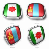 3d taiwan and mongolia flag button