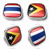 3d thailand and east timor flag button