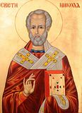 Saint Nicholas on golden background