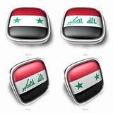 3d syria and iraq flag button