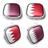 3d qatar and bahrain flag button